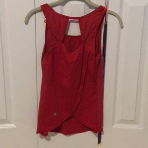 lululemon athletica Tops - Red open back tank top sz 4 57629